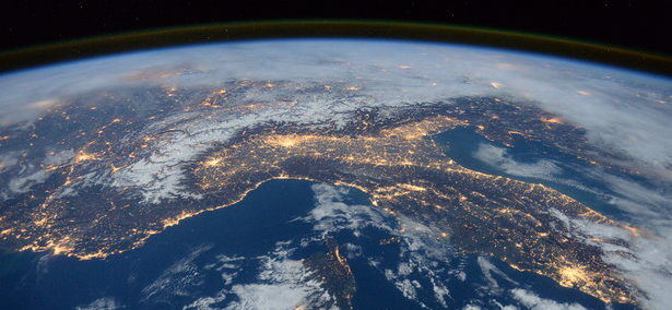 Earth from space showing energy use credit NASA