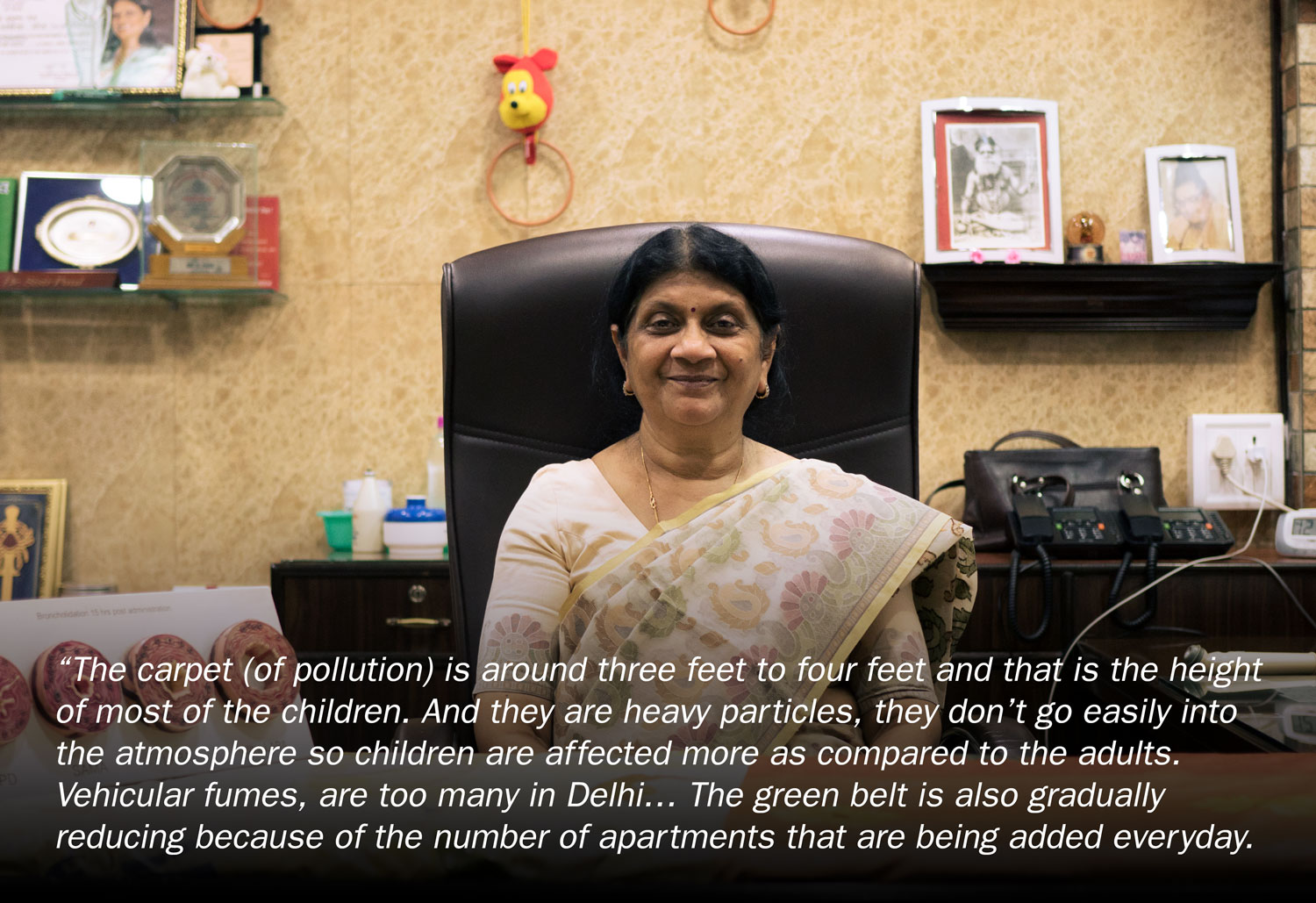 Dr Premila Paul is a physician in Delhi who sees at first hand the daily human cost of air pollution.